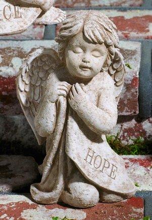 Garden Angel Statue Cherub Hope From Grasslands