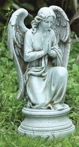 Joseph Studio 40063 Tall Praying Angel Kneeling On Pedestal Statue 1775-inch