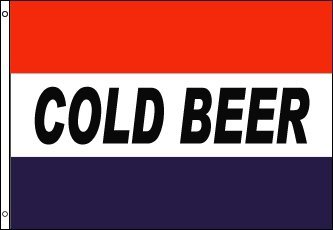 New 3x5 Cold Beer Flag 3 X 5 Red White Blue Banner Sign