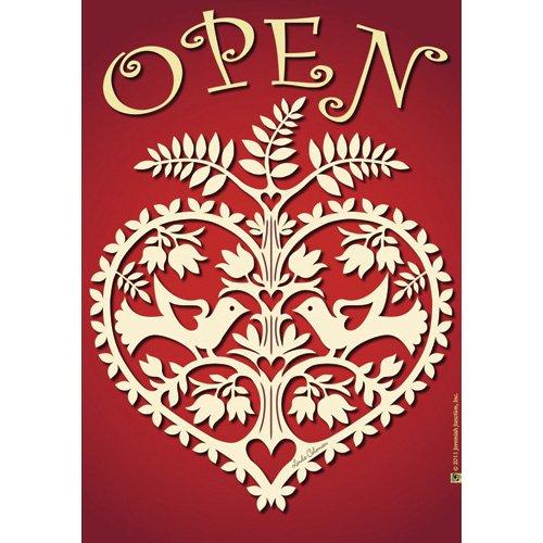 Jeremiah Junction House Flag - Open Heart - 28x40