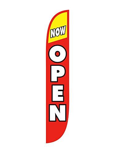 Lookourway Now Open Feather Flag