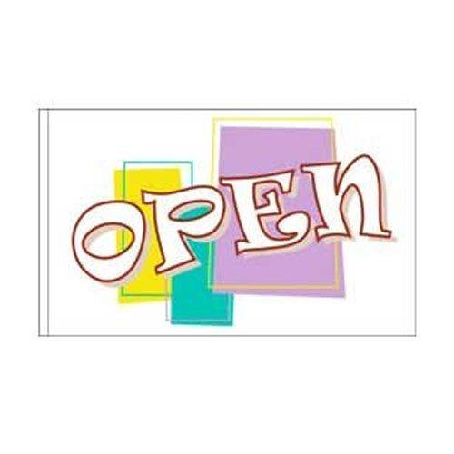 Open Flag New Shapes Design 5 - 3ft x 5ft Superknit Polyester