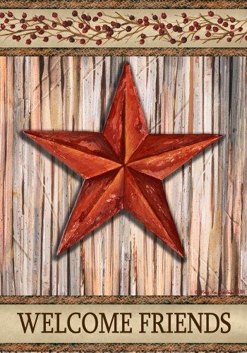 Custom Decor Rustic Star Garden Flag 1538fm