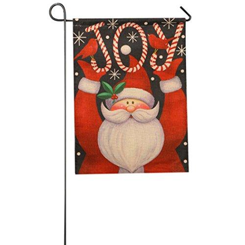 AMATM Merry Christmas Fall Garden Flag Indoor Outdoor Home Decor Winter Xmas Snowman Tree Santa Claus Snowflake Flag A