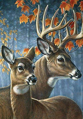 Deer Pair Fall Garden Flag Doe Buck Autumn Leaves 125 x 18 Briarwood Lane
