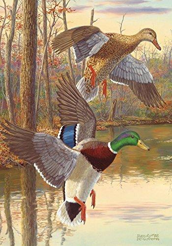 Mallards at Dusk Fall Garden Flag Autumn Ducks Hunting Briarwood Lane 125x18