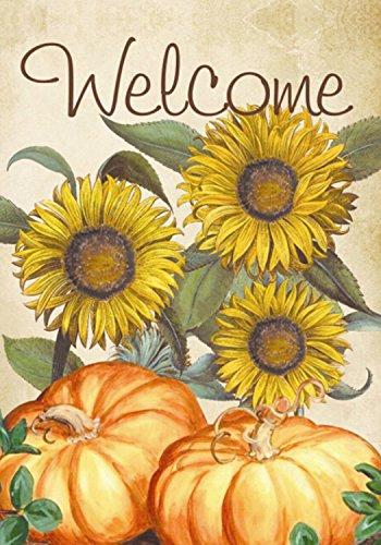 Welcome Sunflowers Fall Garden Flag Pumpkins Autumn 125 x 18 Briarwood Lane