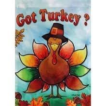 Got Turkey Large Porch Flag 28 X 40 Inches
