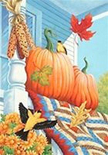 Porch Pumpkins Mini Flag
