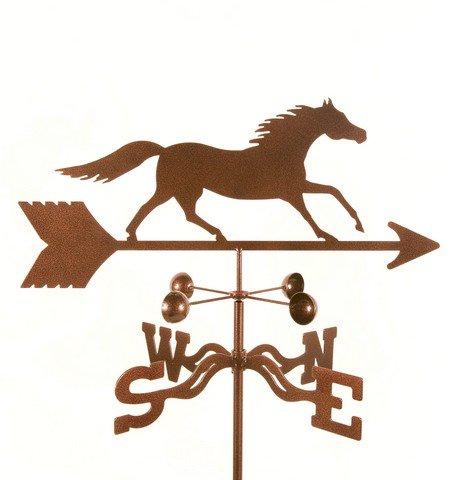 EZ Vane EZ1505-4S Running Horse Weathervane with Four Sided Mount