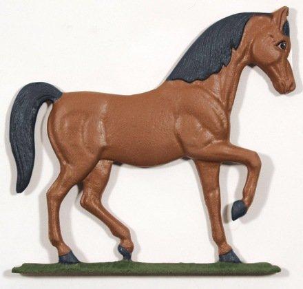 Whitehall Products Horse Weathervane 30-Inch Garden Black