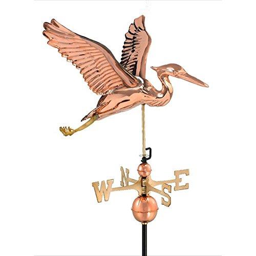 Good Directions Blue Heron Weathervane - Polished