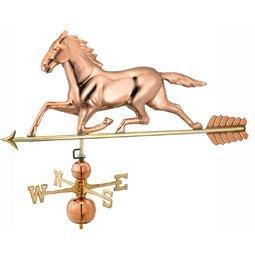 Large Horse Estate Weathervane - Polished Copper