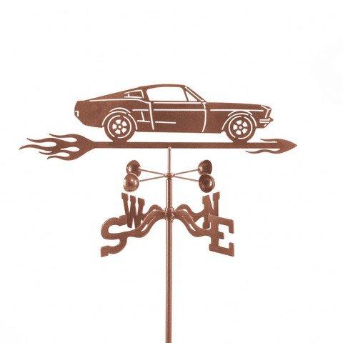 EZ Vane EZ1018-PT Mustang Car Weathervane with Post Mount