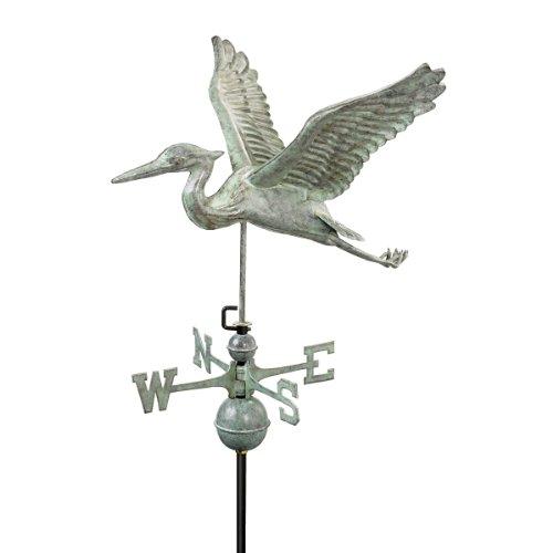 Design Toscano Blue Heron Full-Size Weathervane Verdigris