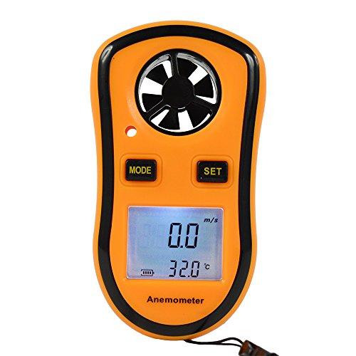 STree Digital Anemometer LCD Digital Wind Speed Meter Gauge Temperature Measure GM8908