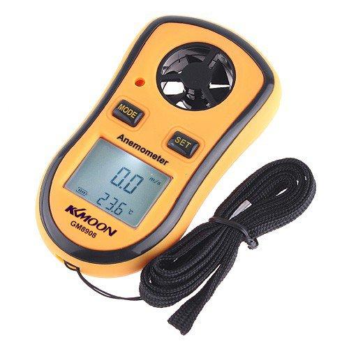 engdashGM8908 LCD Digital Wind Speed Temperature Measure Gauge Anemometer GM8908