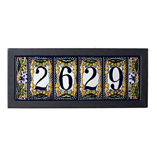 5-tile Contemporary House Address Plaque