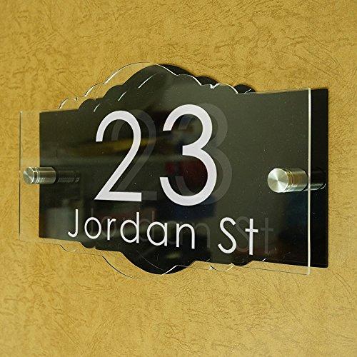 Customize Modem Stylish Address Plaques House Number Company Logo Plate vintage 12&quot