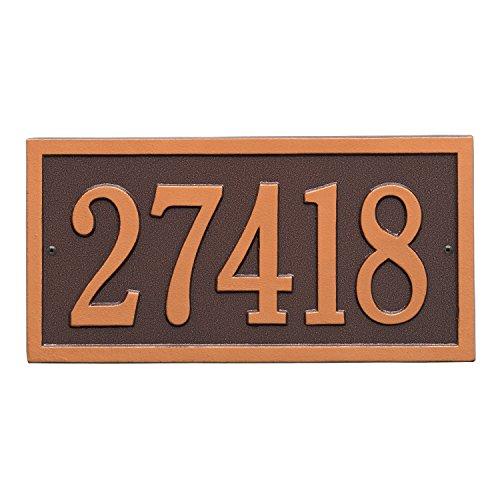 Bismark Standard Wall Address Plaque Color Antique Copper