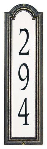 Custom Manchester REFLECTIVE VERTICAL WALL Address Plaque 21H x 6W