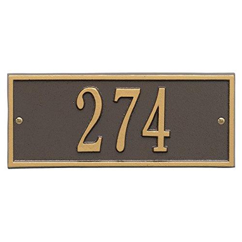 Customized Hartford Mini WALL Address Plaque 1 Line 11W x 4H