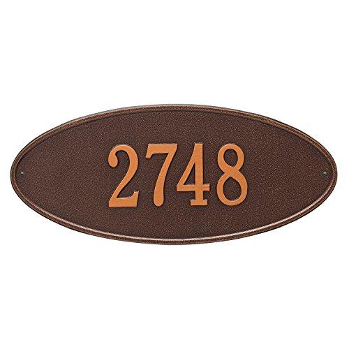 Madison Estate Wall Address Plaque Color Antique Copper