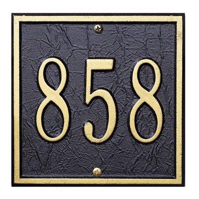 Square Petite Wall Address Plaque Color Antique Copper