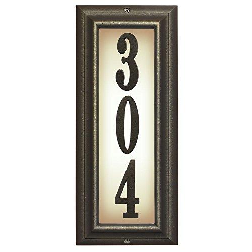 Qualarc Inc Edgewood Vertical Lighted Address Plaque Oil Rub Bronze LTV-1303-ORB