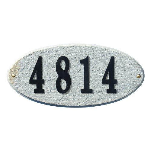 Qualarc Rockport Oval Granite Address Plaquequotdo It Yourself Kit&quot Quartzite