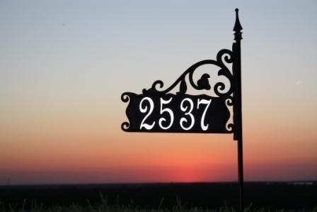 Boardwalk Super Reflective Address Sign 30&quot Customized W Your Address