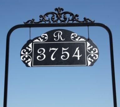 Le Paris Estate Reflective Address Sign One Sided