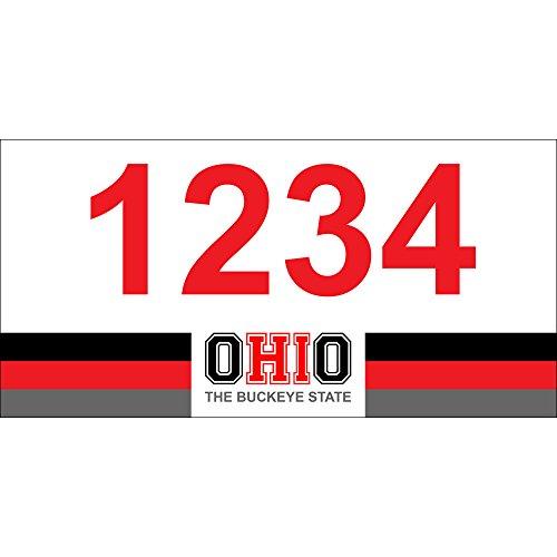 OHIO - O-HI-O Custom House Numbers by State of Address  - 12 x 6 Metal