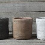 Cement-Pot-Terra-Cotta-Finish-Plant-Holder-Country-Primitive-Home-D-25.jpg