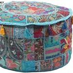 GANESHAM-Indian-Hippie-Vintage-Cotton-Floor-Pillow-Cushion-Patchwork-Bean-Bag-Chair-Cover-Boho-Bohemian-Hand-Embroidered-Handmade-Pouf-Ottoman-Turquoise-13-H-x-18-Diam-inch-60.jpg